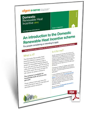 Domestic Renewable Heat Incentive Overview